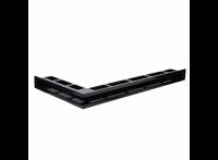 Угловая вентиляционная решетка 900х500, левый угол, цвет - чёрный (Молодой Урал)