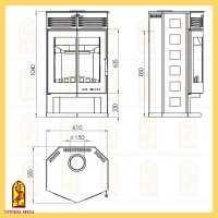 Печь для бани ТМФ Тунгуска Cast Витра (антрацит), 8-18 куб.м