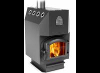 Отопительная печь ИНЖЕНЕР, уголь, чугунная дверца + чугунный колосник (Термофор) 250 м3