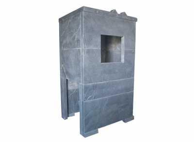 Облицовка универсальная РУССКИЙ ПАР, закрытая, с чугунной дверкой, ТАЛЬКОХЛОРИТ УРАЛЬСКИЙ 40мм