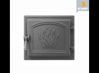 Дверь каминная чугунная Везувий (261), антрацит (Везувий)