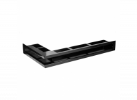 Угловая вентиляционная решетка 630х360, левый угол, цвет - чёрный (Молодой Урал)