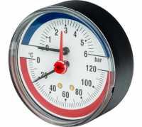 Термоманометр аксиальный Watts F+R818 10009464 DN 80 (0-4 бар)
