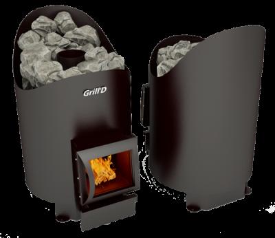 Печь для бани Grill'D Aurora 160 Short black (12-18 куб.м.)