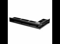 Угловая вентиляционная решетка 630х360, правый угол, цвет - чёрный (Молодой Урал)