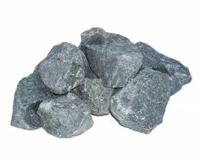 Камень для бани Габбро-диабаз обвалованный, 20 кг коробка