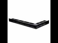 Угловая вентиляционная решетка 900х500, правый угол, цвет - чёрный (Молодой Урал)