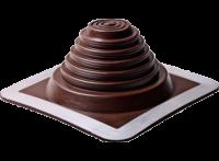 Проходник Мастер Флеш №8 (178-330), прямой, силикон/алюминий, коричневый, 425х425мм