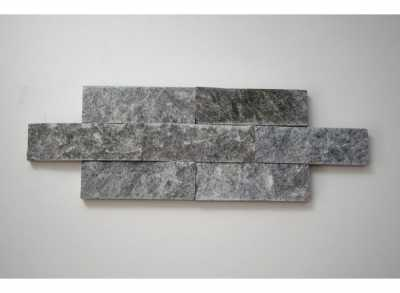 Плитка облицовочная ТАЛЬКОХЛОРИТ уральский, рваный камень, 200х50х25 (1 м2 = 100 шт), м2