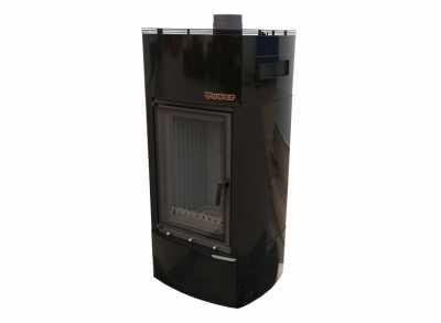 Теплонакопительная печь-камин TOWER 46x68 Reallit black™ (Компакт) 300 м3