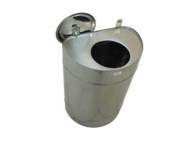 Бак выносной для теплообменника, 70 л, 0,8 мм, вертикальный, нерж. (УМК)