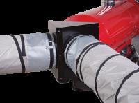 Адаптер на два выхода для крепления рукава O300 мм для теплогенераторов Ballu-Biemmedue EC 85