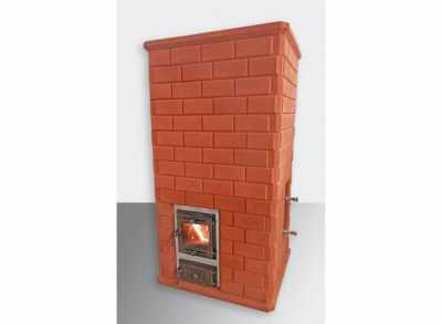 Кирпичная печь банная с обращенным пламенем МАЛИНОВЫЕ КАМНИ (КДМ) 18-25 м3