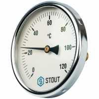 """STOUT  Термометр биметаллический с погружной гильзой. Корпус Dn 100 мм, гильза 50 мм 1/2"""""""