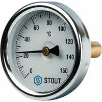 """STOUT  Термометр биметаллический с погружной гильзой. Корпус Dn 63 мм, гильза 50 мм 1/ 2"""""""