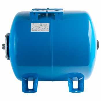 Гидроаккумулятор STOUT 50 л. горизонтальный (цвет синий)