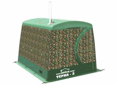 Мобильная баня / палатка ТЕРМА-3, один слой, с тамбуром (Терма)