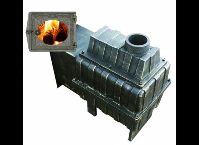 Чугунная печь для бани ВОЕВОДА 20 ДТ-3 со стеклом, под обкладку,  (Берёзка) 12 - 20 м3